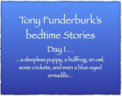 Ebook writer, Tony Funderburk, shares his journey through writing a series of Bedtime Stories