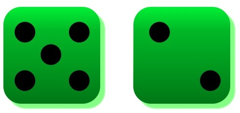 Green, lucky 7 dice don't phase writer, singer Tony Funderburk.