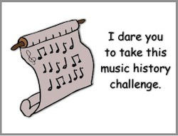 If you know music, take this Music History Challenge from creative content writer, singer songwriter, and children's writer and illustrator Tony Funderburk.
