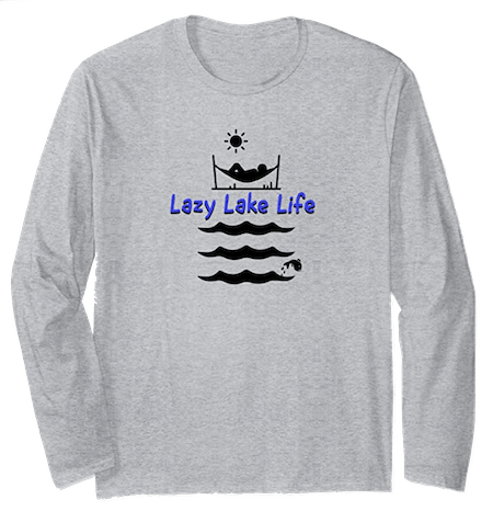 Lazy Lake Life longsleeve tee from Tony Funderburk