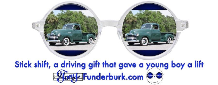 Stick shift, a driving gift that gave a young boy a lift
