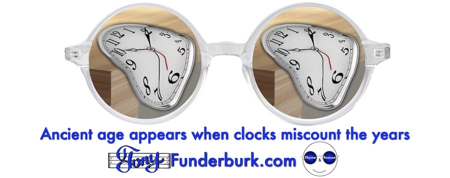 Ancient age appears when clocks miscount the years