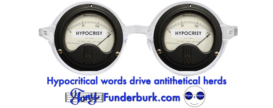 Hypocritical words drive antithetical herds