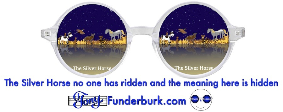 The Silver Horse no one has ridden and the meaning here in hidden