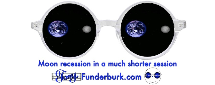 Moon recession in a much shorter session
