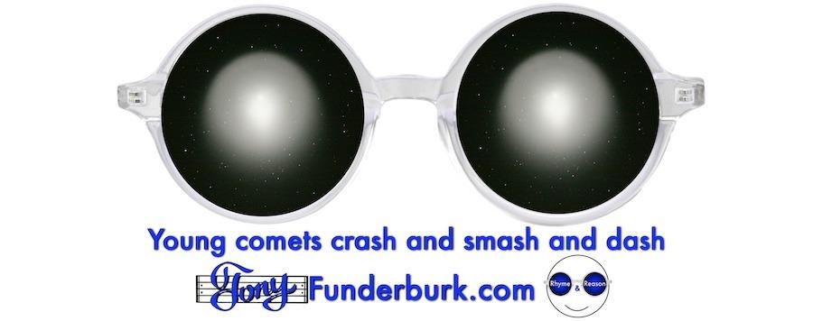 Young comets crash and smash and dash