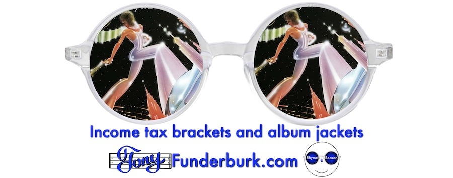 Income tax brackets and album jackets
