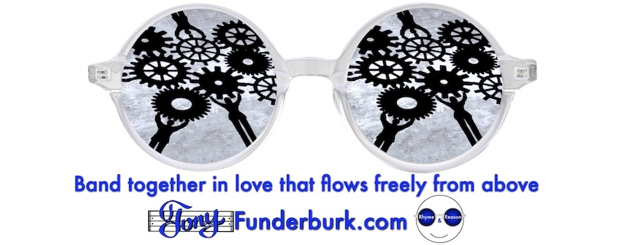 Band together in love that flows freely from above