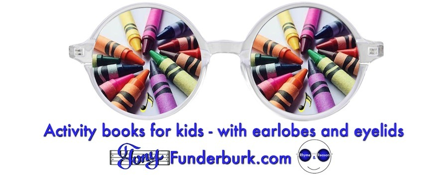 Activity books for kids with earlobes and eyelids