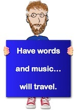 Writer singer illustrator, Tony Funderburk, recommends you keep words and music in your heart.