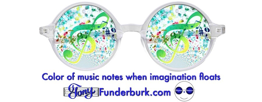 Color of music notes when imagination floats