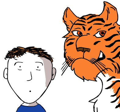 "Writer-singer-illustrator for kids and life: Tony Funderburk, says ""don't grab a tiger by the tail""."