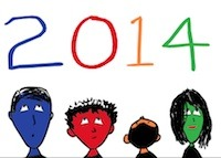 Happy New Year 2014 from singer songwriter, writer, and illustrator Tony Funderburk