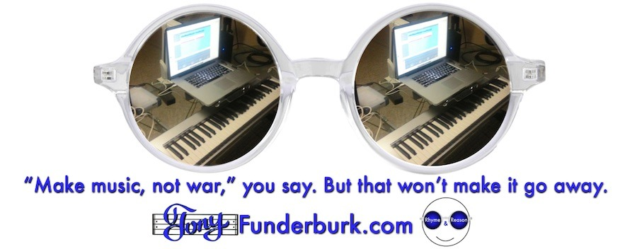 """Make music, not war,"" you say. But that won't make it go away."