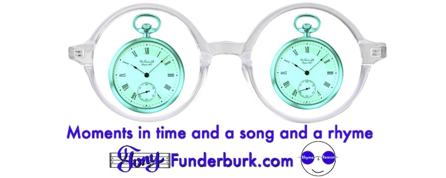 Moments in time in a song and a rhyme