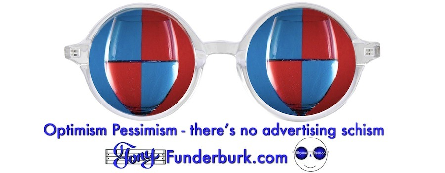 Optimism and pessimism - there's no advertising schism