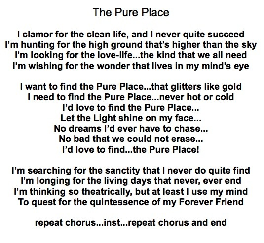 Christian singer songwriter, Tony Funderburk's...The Pure Place