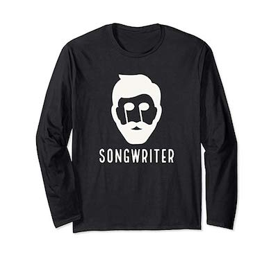 Songwriter Man t-shirt part of the merch by singer songwriter, Tony Funderburk