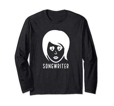 Songwriter Woman t-shirt part of the merch by singer songwriter, Tony Funderburk