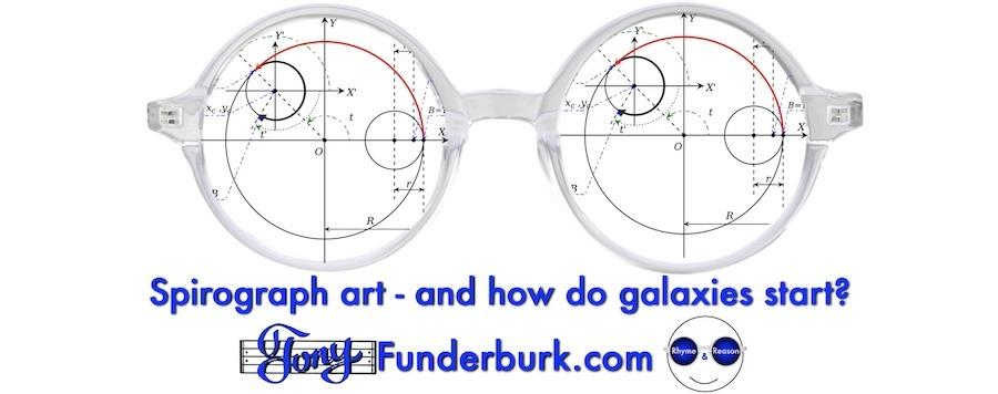 Spirograph art and how do galaxies start