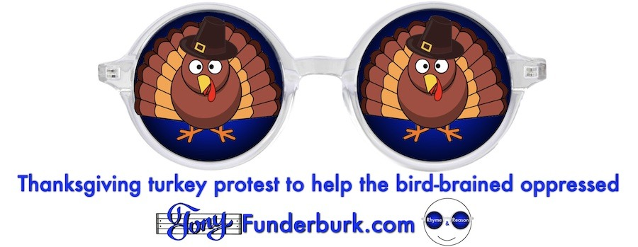 Thanksgiving turkey protest to help the bird-brained oppressed