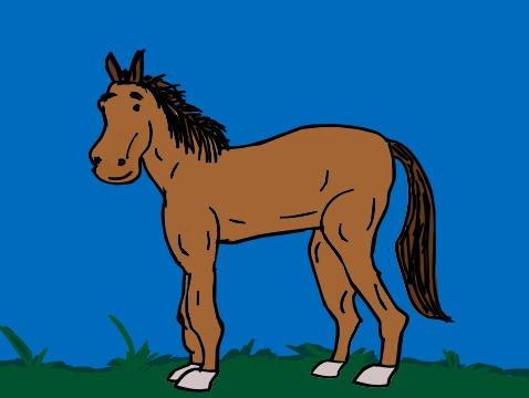 I believe there will be horses in Heaven, and here's a horse from planet Tony.