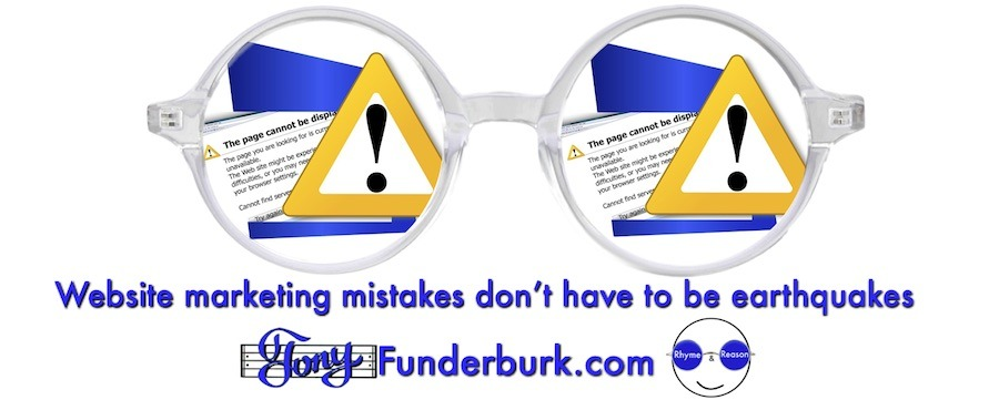 Website marketing mistakes