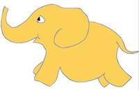 Whimsical writer, Tony Funderburk, shares some Monday morning lyrics about Marimba, the yellow elephant.