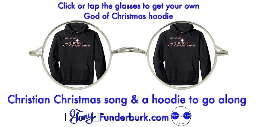Get a true christian christmas song and a hoodie to go along