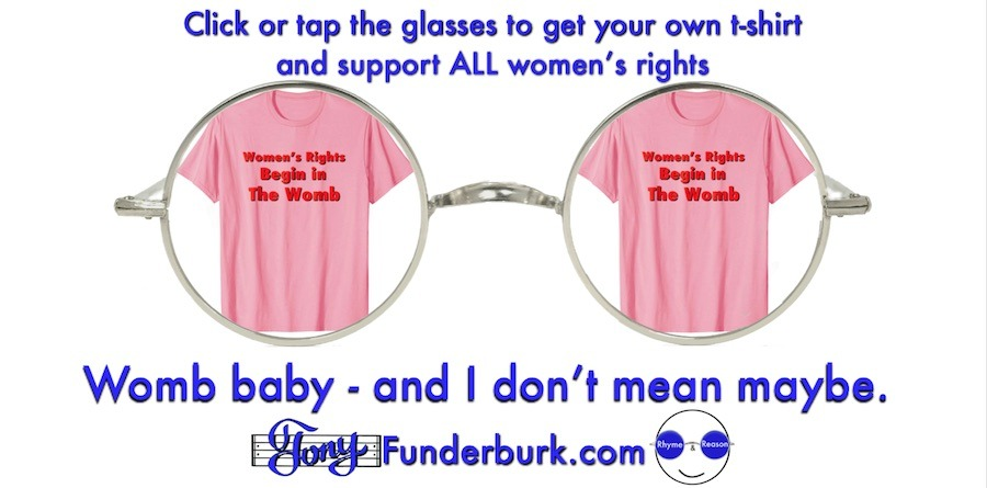 Click or tap the glasses to get your own womb baby tshirt